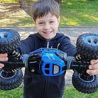 Трюковый BigFoot Rock Crawler на р/у, 48 см, UD2168A   Масштаб 1:10   Синего цвета