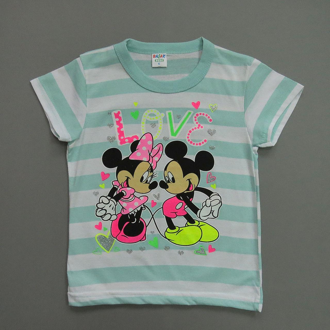 Футболка Minnie&Mickey Mouse для дівчинки. 7, 8 років