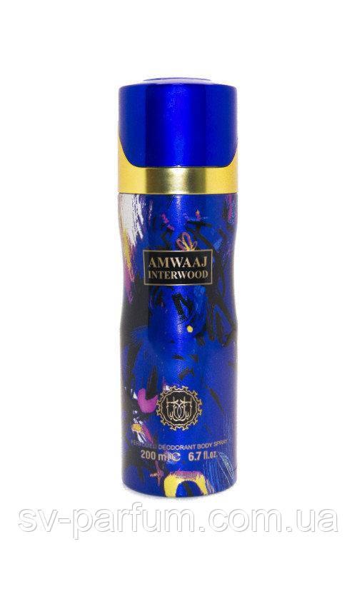 Парфюмированный дезодорант женский Amwaaj Interwood 200ml