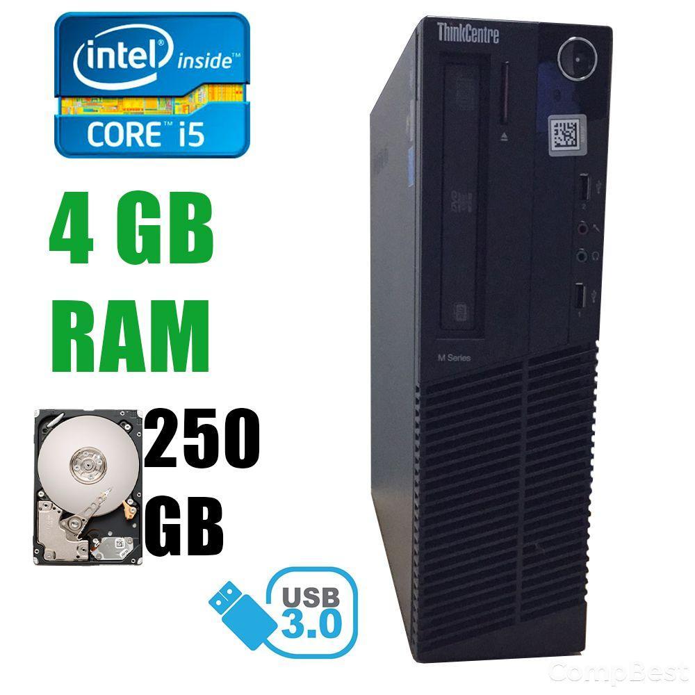 Lenovo M82 DT / Intel® Core™ i5-3470 (4 ядра по 3.20 - 3.60GHz) / 4GB DDR3 / 250GB HDD / DVD-RW, USB 3.0