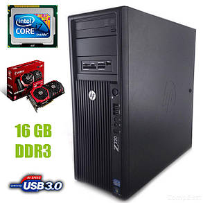 HP Z220 Tower / Intel Core i7-3770 (4 (8) ядра по 3.40 - 3.90 GHz) / 16 GB DDR3 / new! 120 GB SSD +500 GB HDD / Radeon RX480 8GB GDDR5 256bit, фото 2