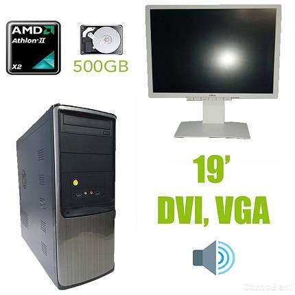 AMD Tower / AMD Athlon x2 255 (2 ядра по 3.1GHz) / 4GB DDR3 / 500GB HDD / HEC 350W + монитор Fujitsu-Siemens B19-6 LED / 19'' / 1280х1024 / встроенные, фото 2