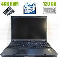 HP Compaq nw9440 / 17.1'', 1920x1200  / Intel Core 2 Duo T7400 (2 ядра по 2.16 GHz) / 4 GB DDR2 / 120 GB SSD / nVidia Quadro FX1500 256MB GDDR3