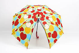 Детский зонт FAMO Зонт детский Лучик красный Диаметр купола 114.0(см)/ Длина спицы 48.0(см)/ Длина в сложенном