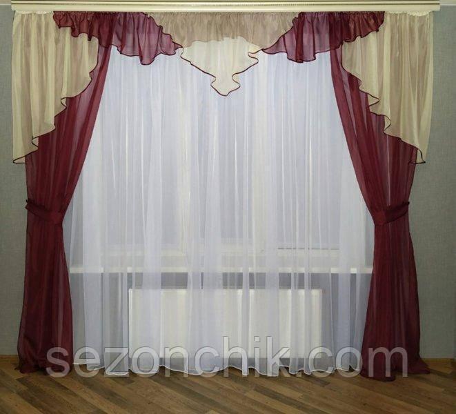 Стильный комплект готовых штор