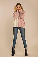 Женский свитер из крупной вязки лиловый, фото 1