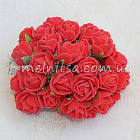 Розы из латекса, 1,5-2 см, красный