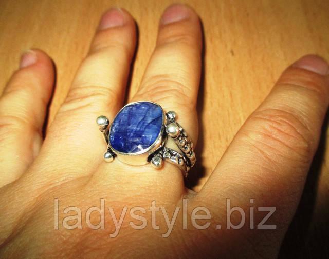 купить серебряное кольцо перстень сапфир натуральный украшения