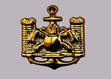 Эмблема инженерных войск (золотистая) нового образца