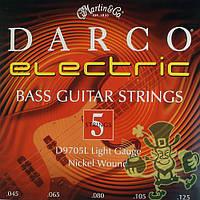 Струны для бас-гитары Martin D 9705L (45-125)