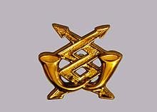 Эмблема связи (золотистая)  нового образца.