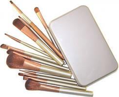 Кисти для макияжа Supretto Набор кистей из смешанного ворса, 12 шт. + специальный футляр для хранения в комплекте SKU_117