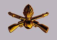 Эмблема механизированных войск (золотистая)нового образца.