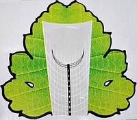 Формы для ногтей (рулон), зеленый листок, малые 500 шт