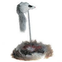 Karlie Flamingo mouse on spring мышь на подставке с дротиком игрушка для котов