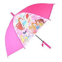 Зонтик детский ART 502 00-441 Принцессы Розовый со свистком
