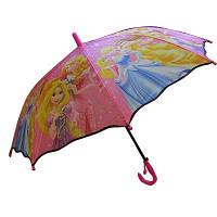 Зонтик-трость детский REAL со свистком Принцессы 00-654
