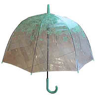 Зонтик-трость RST 00-656 листочки прозрачный силикон