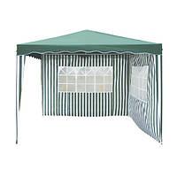 Павильон для дачного отдыха и пикника 3*3 метра, высота 2,5м, прочный полиэстер, 2 стенки, пластиковый каркас