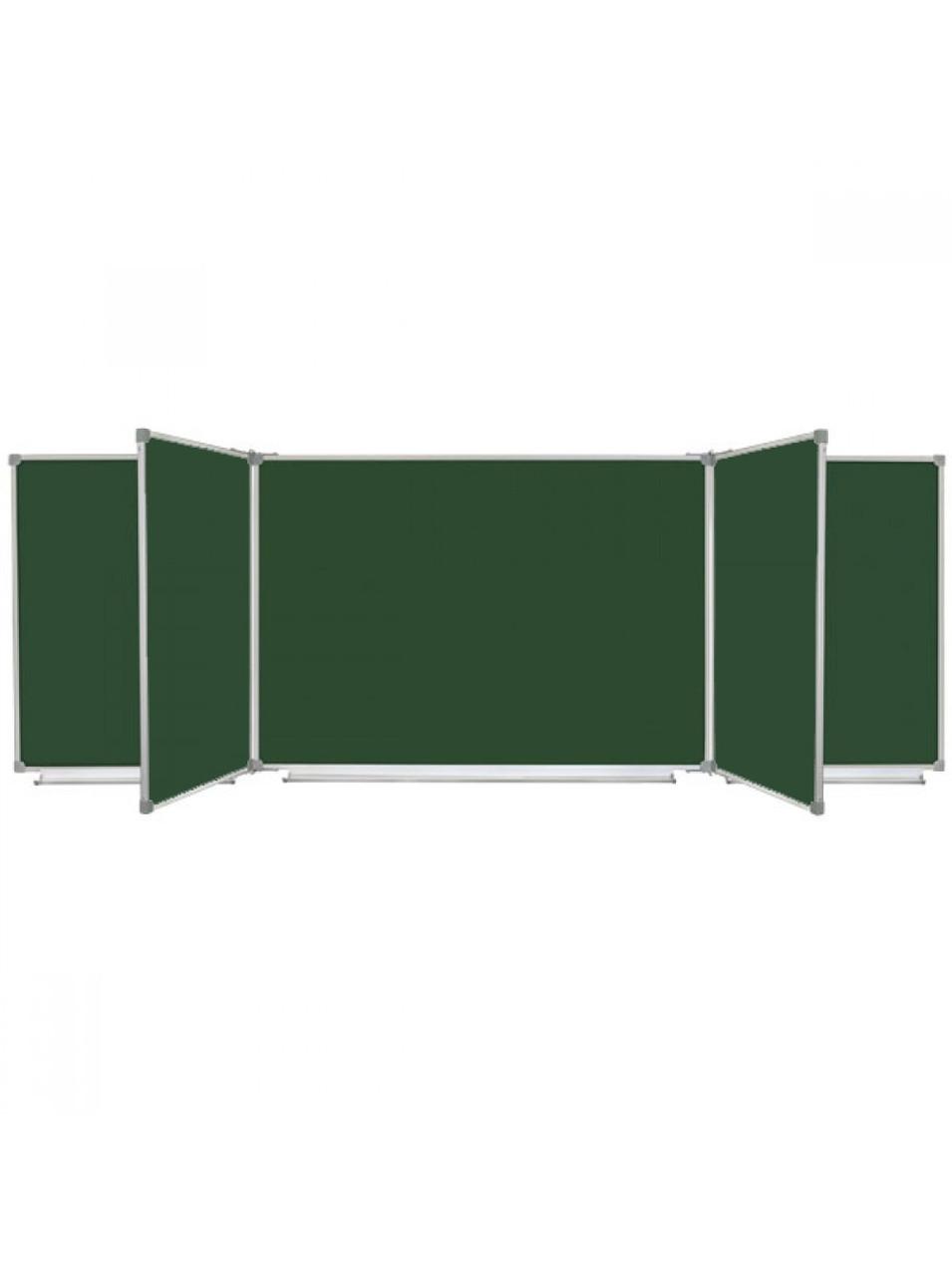 Шкільна дошка магнітна крейдова, 7 поверхнева, 400x100 см