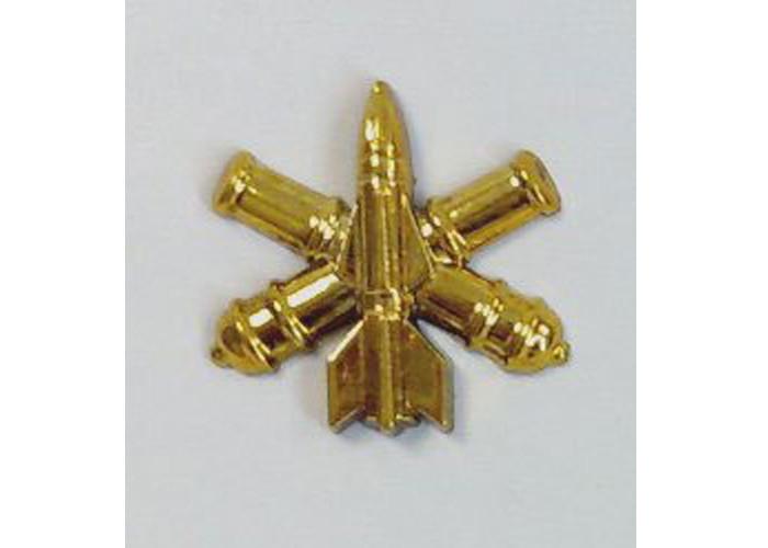 Эмблема ЗРВ зенитно-ракетных войск (золотистая)нового образца