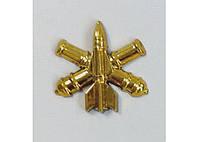 Эмблема зенитно-ракетных войск (золотистая)нового образца
