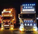 Использование светодиодных фонарей  на грузовиках