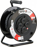 Удлинитель с заземлением на катушке 30 метров 3х1,5 мм² Yato YT-81053, фото 1