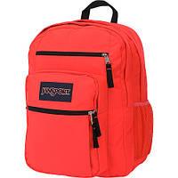 Большой рюкзак JanSport Big Student Backpack Fluorescent Red - Black Label
