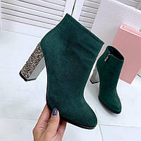 Ботинки зеленые женские, фото 1
