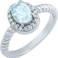 Серебряное кольцо SilverBreeze Серебряное кольцо SilverBreeze с натуральным топазом (0516967) 16.5 размер SKU_0516967-16.5