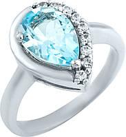 Серебряное кольцо SilverBreeze Серебряное кольцо SilverBreeze с натуральным топазом (0579887) 16.5 размер SKU_0579887-16.5