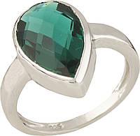 Серебряное кольцо SilverBreeze Серебряное кольцо SilverBreeze с изумрудом nano (0699394) 17.5 размер SKU_0699394-17.5