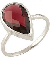 Серебряное кольцо SilverBreeze Серебряное кольцо SilverBreeze с натуральным гранатом (0713243) 16.5 размер SKU_0713243-16.5