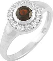 Серебряное кольцо SilverBreeze Серебряное кольцо SilverBreeze с натуральным гранатом (0861005) 18.5 размер SKU_0861005-18.5