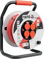 Удлинитель с заземлением на катушке 30 метров 3х2,5 мм² Yato YT-8106