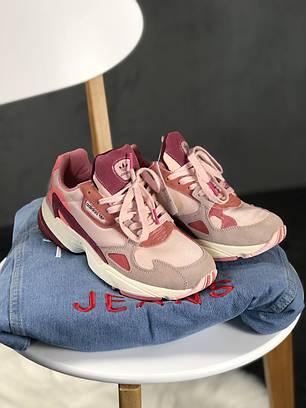 """Кроссовки Adidas Falcon """"Розовые\Бордовые"""", фото 2"""