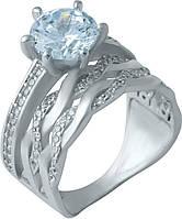 Серебряное кольцо SilverBreeze Серебряное кольцо SilverBreeze с фианитами (1925416) 16 размер SKU_1925416-16