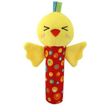 Мягкая погремушка Весёлый цыплёнок Happy Monkey (51404)