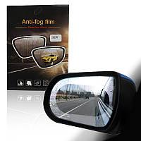Пленка антитуман антидождь на зеркало автомобиля овальная черная 151044