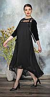 Платье Anna Majewska-А276 N белорусский трикотаж, черный, 54, фото 1