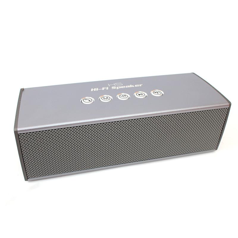 Колонка портативная Bluetooth Hi-Fi H5 Серебряная 151060