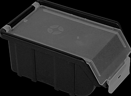 Ящик для инструментов ORGANIZE Облегченный органайзер-контейнер для инструментов 170х110х75 мм с крышкой ORGANIZE 014440 черный SKU_014440