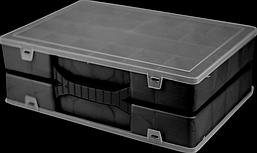 Органайзер ORGANIZE Двойной органайзер для инструментов 304х206х100 мм с крышкой ORGANIZE 024500-small черный SKU_024500-small
