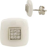 Серебряные серьги SilverBreeze Серебряные серьги SilverBreeze с , керамикой (1154717) SKU_1154717