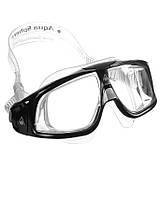 Фирменные очки для плавания Aqua Sphere Seal 2.0, clear lens black/silver