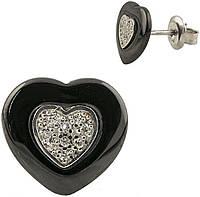 Серебряные серьги SilverBreeze с керамикой (1220504)