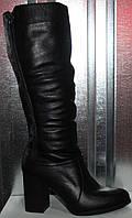 Сапоги женские зимние кожаные на каблуке от производителя модель РИ80-5, фото 1