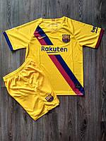 Детская футбольная форма Барселона/Barcelona ( Испания, Примера ), выездная, сезон 2019-2020 фанатская версия, фото 1