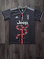 Тренировочная футболка игровая Ювентус/Juventus ( Италия, Серия А ), черная-змея, сезон 2019-2020